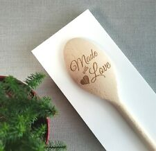 Made with Love Engraved Personalised Wooden Spoon Baking Cooking Gifts Baking
