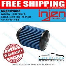 Injen SuperNano Web Dry - 3.00 Filter 5 Base/5 Tall/4 Top - 45 Pleat X-1017-BB