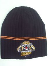 Official NRL West Tigers Knitted Rib Beanie