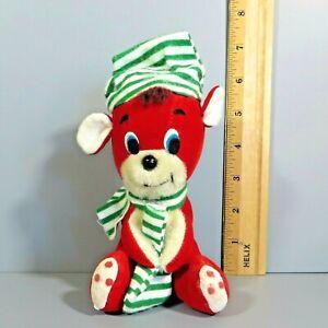 "Dakin Dream Pets Christmas Red Teddy Bear 6"" Plush Stuffed Animal Japan Vintage"