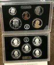 2017 S Proof Set Original Box & COA 10 Coins 90% Silver Quarters Kennedy Dime