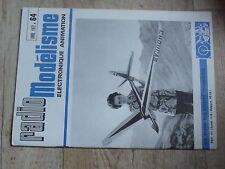 $$v Revue Radio Modelisme N°64 Graupner 1971  tour Unimat  ampli servomoteur