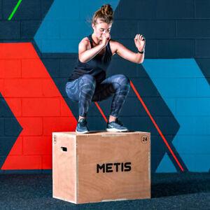 """METIS Plyometric Jump Box [20""""/24""""/30""""]   3in1 PLYO BLOCK – CrossFit Gym Workout"""