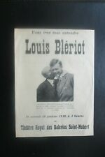 1930 LOUIS BLERIOT THEATRE APPEARANCE ADVERTISING SHEET