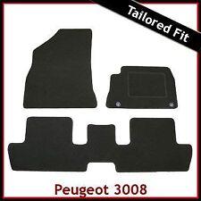 Peugeot 3008 Mk1 2009-2016 Tailored Fitted Carpet Car Floor Mats BLACK