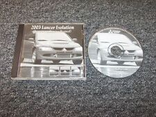 2003 Mitsubishi Lancer Evolution Evo VIII 8 Shop Service Repair Manual DVD 2.0L