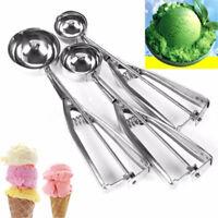 3x Stainless Steel Scoop for Ice Cream Mash Potato Food Spoon Kitchen Ball best