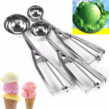 3Pcs Ice Cream Craft Cookie Dough Scoop Mash Stainless Steel Spoon 4+5+6cm Set