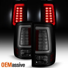 2009-2017 Dodge Ram 1500 2500 3500 Black Smoked LED Tube Tail Lights Brake Lamps