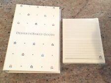 UNIQUE HALLMARK BOXED DESSERTS / BAKED GOODS RECIPE ALBUM-UNOPENED RECIPE CARDS