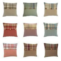 Highlands Skye Tartan Button trim multi colours sizes hand made UK cushion cover