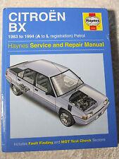 CITROEN BX 1983 ~ 1994 PETROL HAYNES SERVICE REPAIR MANUAL 0908