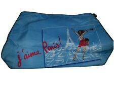 "LANCOME j'aime Paris! Cosmetic Makeup Pencil Travel Personal Bag 11"" x 6"" x 3"""