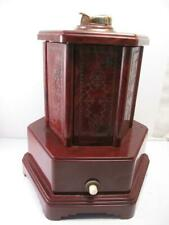 Antique Vtg Music Box Cigarette Dispenser & Lighter Roundelay Swiss Harmony Co.
