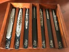 KAY DISPLAYS: Handsomely-crafted stained wood mounting for WW2 US ships