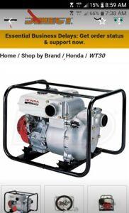 Honda Trash Pump WT30