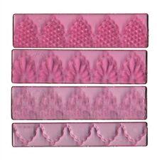 FMM Cutter Textured Lace Set 1 Cake snijgereedschap Drops Simple Art Nouveau