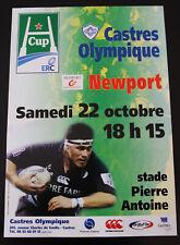 Affiche RUGBY - H CUP - saison 2005-2006 - CASTRES OLYMPIQUE / NEWPORT
