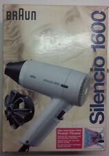 Braun Silencio 1600 von 1985 Haartrockner Fön. Neu und in Orig. Verpackung