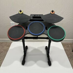 Nintendo Wii Guitar Hero World Tour Wireless Drum Set Only No Foot Pedal Tested