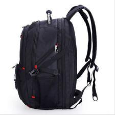 Waterproof Mens Racksack Large Black Backpack Notebook School Laptop Travel Bags
