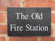 Large Quality Slate House sign 300 x 200mm ANY NAME / NUMBER!!