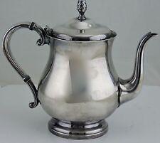 VINTAGE SILVER PLATED TEA COFFEE CHOCOLATE POT ACORN KNOB NEWPORT HOLLOWWARE