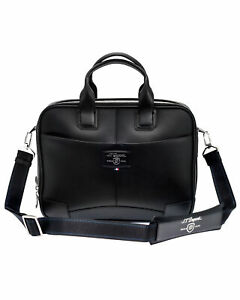 S.T. Dupont Men's Black Leather Briefcase And Document Holder 171402 MSRP $1370