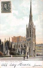 NEW YORK CITY NY GRACE CHURCH~TIMBRE COTE VUE (TCV) POSTCARD 1905