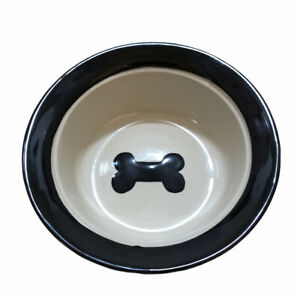 Petrageous Design Dog Bowl with Dog Paws & Food Written Around It with Dog Bone