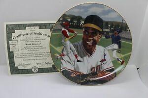 "Frank Robinson Reds Orioles  ""Superstars of Baseball""  Bradford Exchange Plate"