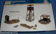 ITALERI 6130 WW2 BATTLEFIELD BUILDINGS 1:72 SCALE. ACCESSORIES. WATCH TOWER ETC.