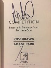 Ross Brawn & Adam Parr SIGNED 'Total Competition' 1/1 book. Formula 1 F1 racing