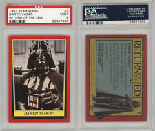 1983 Topps Star Wars Return of the Jedi #3 Darth Vader PSA 9 pop 8 non higher