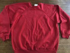 Tultex Sweatshirt Vintage 90's USA Red Blank Mint Maximum sweats