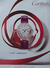 PUBLICITE CARTIER MONTRE BALLON BLEU BIJOUX DE 2016 FRENCH AD ADVERT PUB RARE