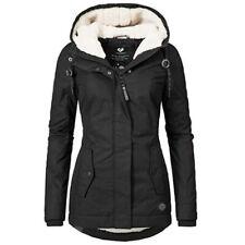 Womens Thicken Fur Hooded Warm Coat Jacket Trench Outwear Winter Parka Overcoat