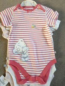 Baby Girls toddlers M&S 3 Piece Bodysuits/vest Set 18/24 Months Bnwt