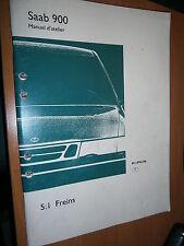 Saab 900 : manuel atelier partie 5:1 Freins 1994 à 1996