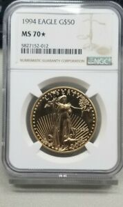 1994 $50 Gold American Eagle NGC MS 70* STAR
