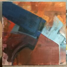 More details for very large modern abstract original oil painting signed