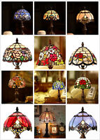"14.5"" High Tiffany Leadlight Stained Glass Mini desk table Lamp(12 Styles)"