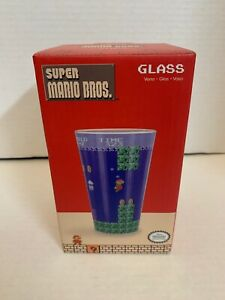 Super Mario Bros Drinking Glass BRAND NEW