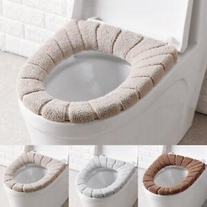 Cover Seat Bathroom Cushion Closestool Toilet Soft Pad Washable Warmer Mat Q