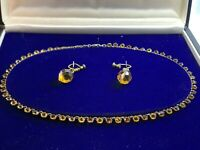 True Vintage Art Deco Paste Set RIVIERE NECKLACE With Drop Earrings, 39cm