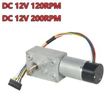 Dc12v 200rpm Turbo Worm Gear Box High Torque Geared Reduction Motor With Encoder