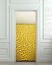 Door or Fridge vinyl STICKER poster cover wrap skin decole mural -  Beer bubbles