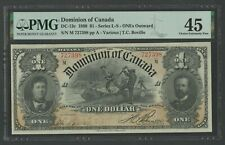 CANADA DC-13c $1 1898 DOMINION NOTE PMG 45 CHOICE XF WLN403