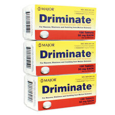 Major Driminate Motion Sickness, Dramamine Generic 50mg 100CT(3 Pack) EXP10/2022