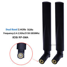 16db 5.8Ghz//2.4Gh Dual-band WIFI Antenna Omni Router Booster Network RP-SMA Male